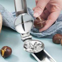 Wytnij kasztany kasztan klip nakrętka ze stali nierdzewnej otwieracz narzędzia kuchenne Cutter gadżety orzech szczypce narzędzia kasztan otwarcie urządzenia