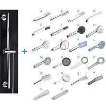Bathroom Shower Bar Column Sliding Set Movable Adjustable Wall Mounted with Bracket Holder Hand Shower Set