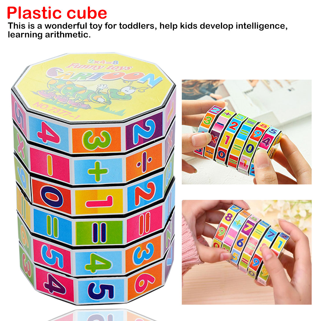 Plastic Cylindrical Digital Puzzle Magic Cube Calculation Learning Toys Children Kids Educational Toy Gifts Mathematics Teaching
