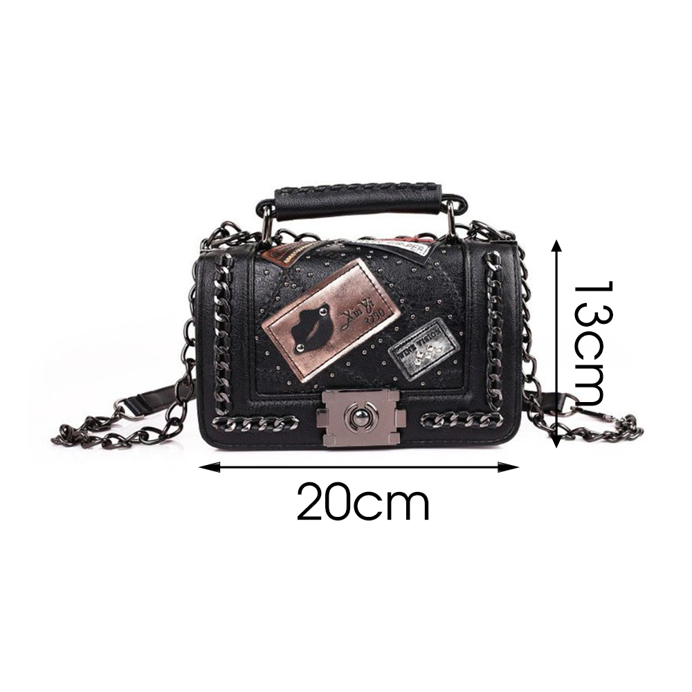 Image 5 - 2020 Fashion PU leather Handbags Women Crossbody Messenger Bags Vintage Shoulder Bag Ladies Totes Evening Clutches Female PurseTop-Handle Bags   -