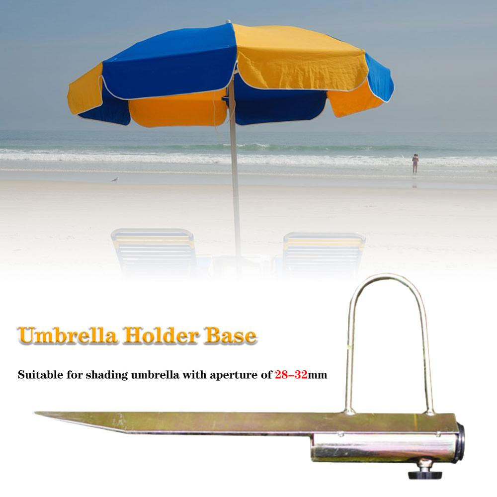 New Protable Sun Beach Umbrella sombrilla playa Stand Spike Fishing Parasol Ground Anchor Holder