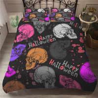 MEI Dream Hallowmas 3d постельное белье Красочные черепа одеяла и постельные принадлежности наборы двухместное покрывало лист