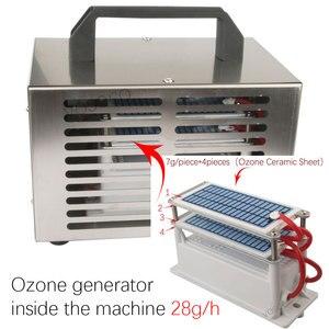 Image 3 - 220 فولت 110 فولت 10 جرام 20 جرام 24 جرام 28 جرام/ساعة مولد أوزون لتنقية الهواء Ozonizador آلة O3 مولد أوزونو مزيل العرق تطهير المعدات