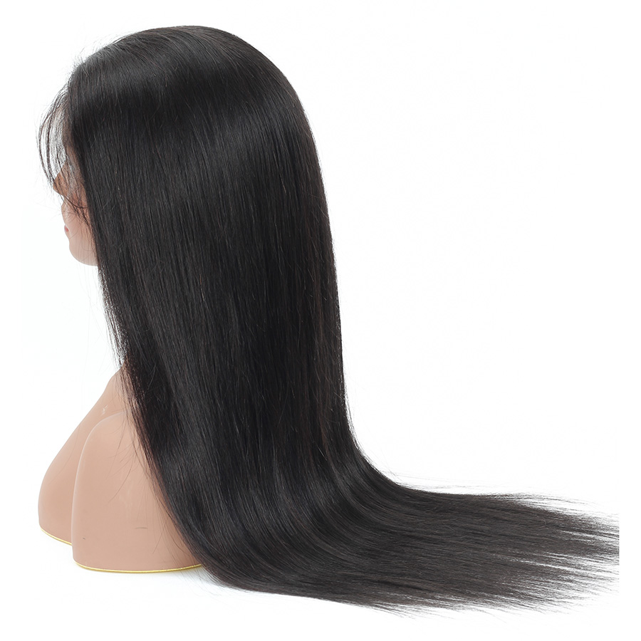 H9ed1701c48b0403ea6b66181ddc305f5i 10-28 inch wigs Brazilian 4x4 Closure Wig 100% Human Hair Lace Wigs Long Straight Remy Lace Closure Wigs for Woman 150 Density