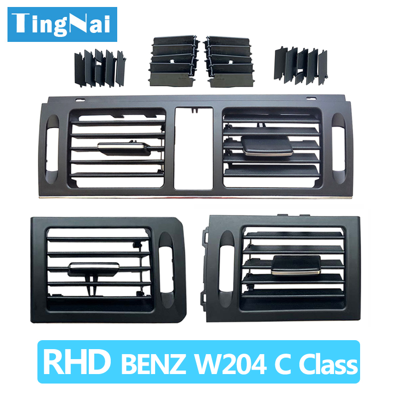RHD Dashborad Fresh Air Conditioner AC Vent <font><b>Grille</b></font> Cover For Mercedes <font><b>Benz</b></font> <font><b>W204</b></font> C Class 180 200 220 230 260 300 350 2007-2011 image