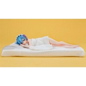 Image 3 - Figura de acción de Anime japonés en un mundo diferente de Zero Rem Sleeping Sexy Girl, modelo de colección de muñecos de 22cm de PVC