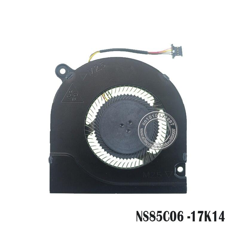 Laptop CPU Cooling Fan NS85C06 DC05V -17K14 4PIN Metal Fan Blade For ACER PH315-51 DC28000K4D0 DC28000L2D0