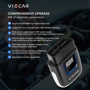 Image 4 - Viecar ELM 327 V2.2 VP003 PIC18F25K80 WIFI OBD 2 OBD2 ELM327 Bluetooth 4.0 Scanner for Android/IOS ODB2 Car Diagnostic Auto Tool