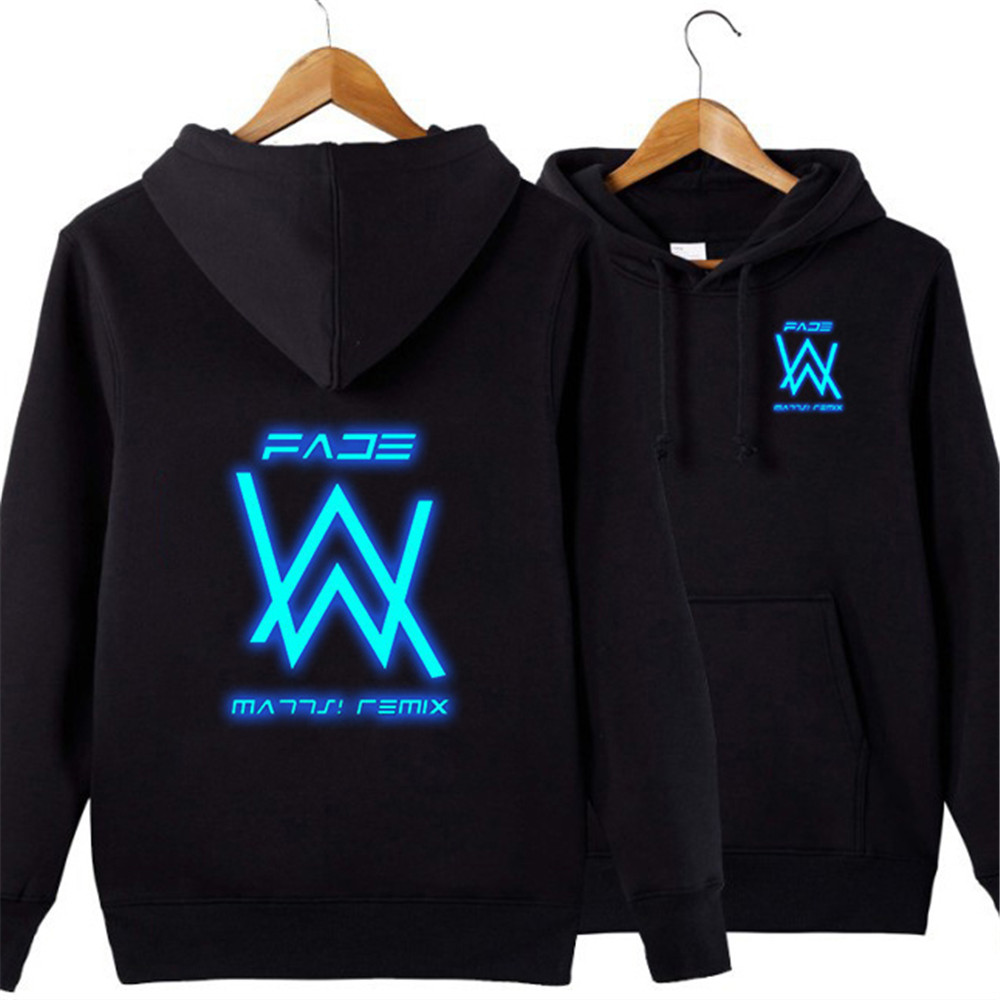 Death DJ Alan Walker Hooded Sweater Casual Shirt Jacket Coat Cosplay Hoodie