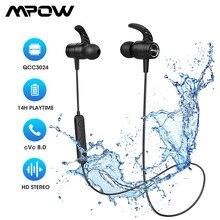Mpow S10 Pro Bluetooth Sport Oordopjes IPX7 Waterdichte Draadloze Oordopjes Met CVC8.0 Noise Cancelling Microfoon & 14H Speeltijd