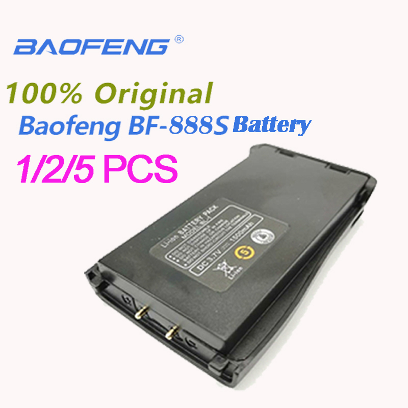 1/2/5PCS Original Baofeng BF-888S Spare Part DC3.7V Battery Li-ion1500mAh For Baofeng 888S BF-666S BF-777S BF-999S Walkie Talkie