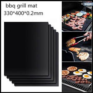 Non-stick BBQ Grill Mat Barbecue Grill Pads Cooking Baking Placemat Mats Kitchen Accessories Gadgets Reusable Roaster Tools