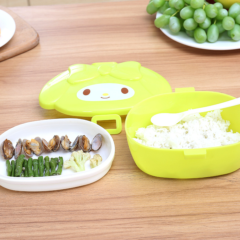 Cute Cartoon Sealed Lunch Box Plastic Food Fruit Snacks Storage Boxes Crisper Grains Kitchen Food Container For Kid Children