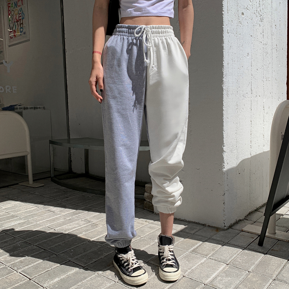 Loose High Waisted Punk Pants 2020 New Clothing Harem Jogging Sport Trousers Hip Hop Sweatpants Women Korean Style Casual