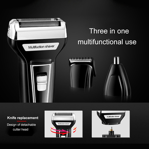Image 2 - Kemei 3 ב 1 גילוח לגברים USB נטענת האף שיער גוזם גברים של מכונת גילוח חשמלי תספורת מכונת