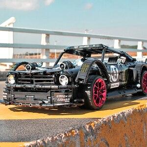 Image 2 - التطبيق RC الطوب فورد موستانج هونيكورن RTR V2 مدينة سباق السيارات أطقم منمذجة صالح Lepining تكنيك MOC 22970 اللبنات الاطفال اللعب