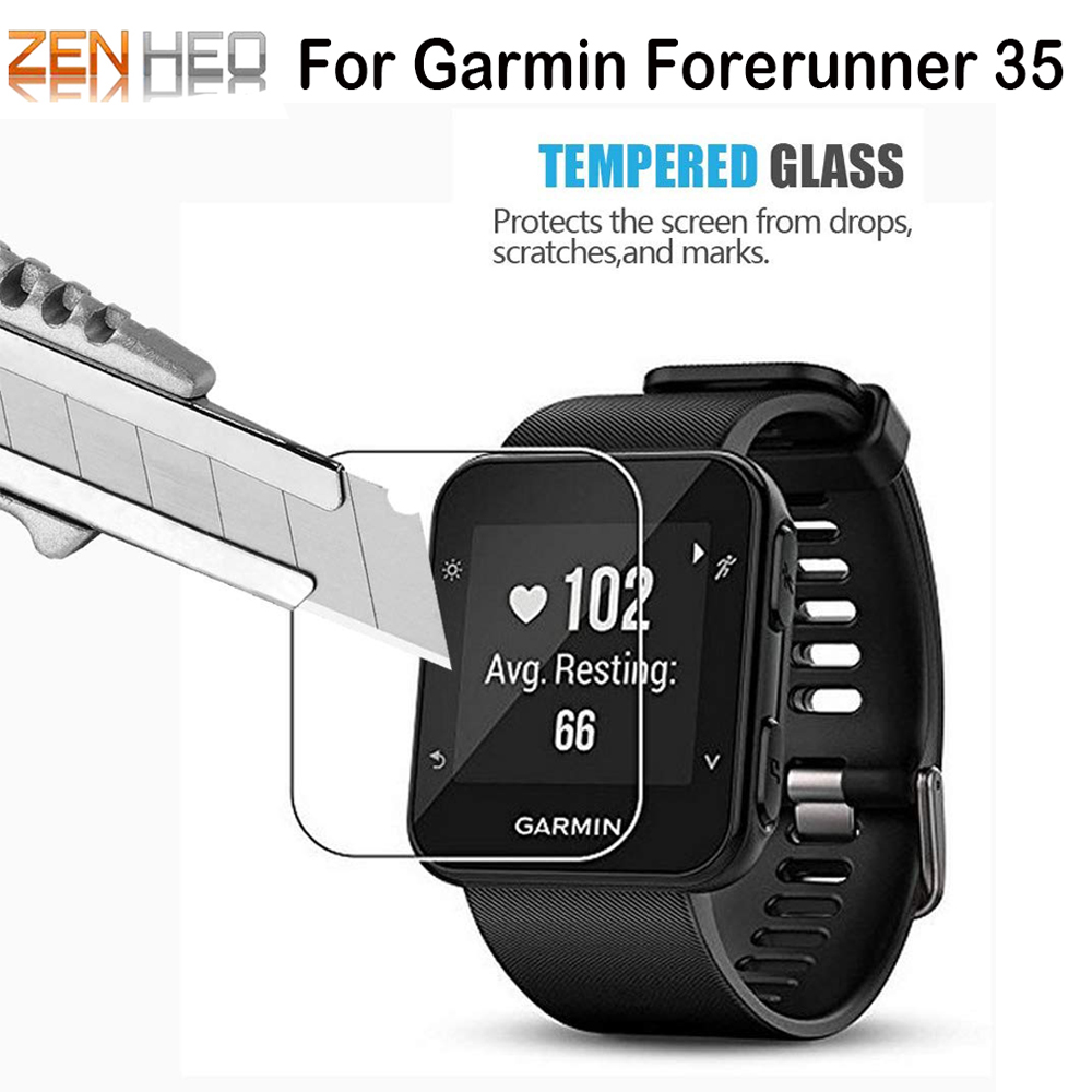 Clear Film Tempered Glass Screen Protector For Garmin Forerunner 35 Smart Watch Protective Film Watch Accessories