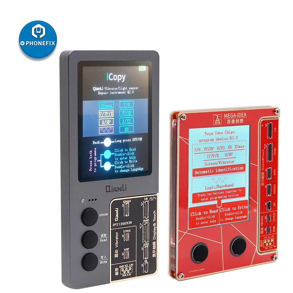 オリジナル Qianli iCopy 液晶画面プログラマ iphone XS XSMAX XR 8 1080P 8 7P 7 振動/タッチ /感光 iphone の修理