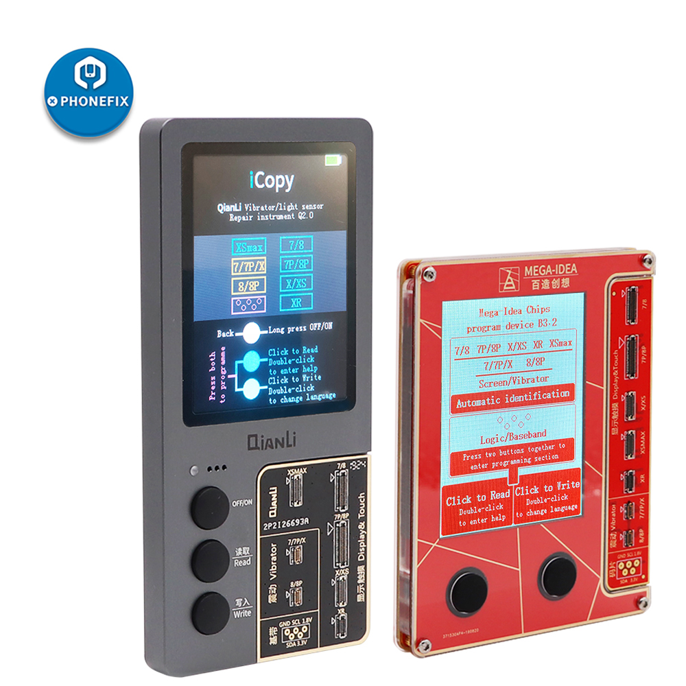 Original Qianli iCopy หน้าจอ LCD Programmer สำหรับ iPhone XS XSMAX XR 8P 8P 7 7 การสั่นสะเทือน/TOUCH /แสงสำหรับซ่อม iPhone