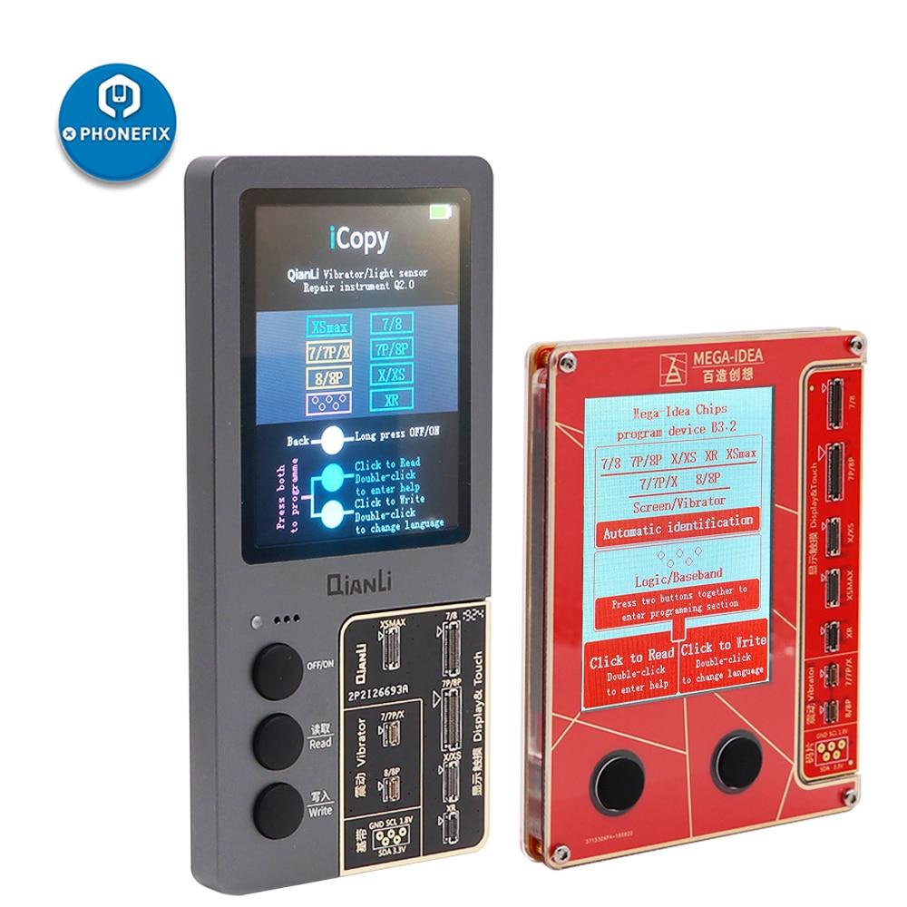 Originale Qianli Icopy Schermo Lcd Programmatore per Il Iphone Xs Xsmax Xr 8P 8 7P 7 di Vibrazione/Touch /Fotosensibile per La Riparazione Iphone