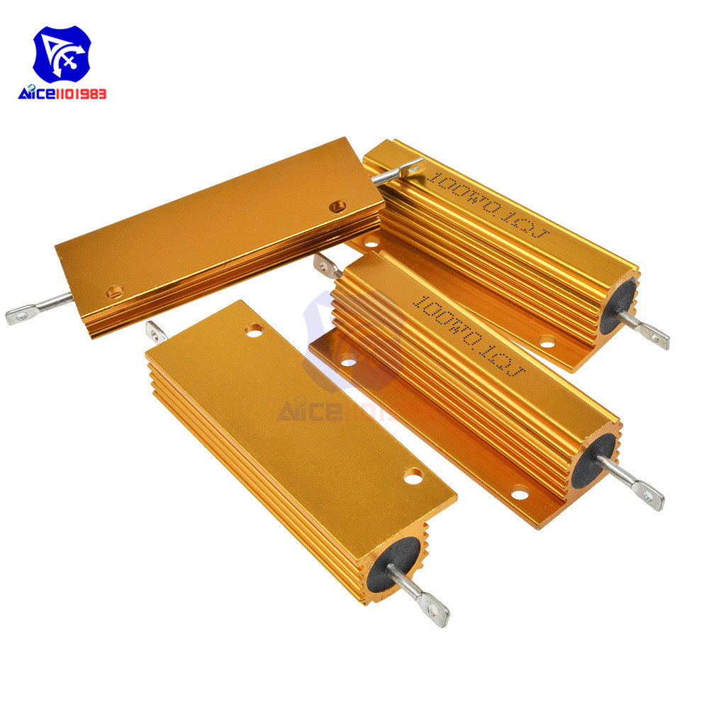 diymore <font><b>100W</b></font> 0.1R -1KΩ ±5% Wirewound <font><b>Resistor</b></font> Electronic Aluminium Shell <font><b>Resistor</b></font> for LED Light Frequency Divider Servo Industry image