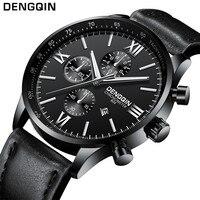 Zakelijke Horloges Luxe Merk Mannen Sport Militaire Quartz Horloge Man Analog Datum Klok Lederen Band Polshorloge Relogio Masculino