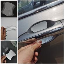 5Pcs Car door handle stickers protector film for Renault Koleos QM5 QM6 Scenic Megane Fluenec Latitude Clio Rubbe