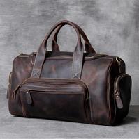 MAHEU 2020 Neue Mode Marke Designer Business Reise Reisetasche Für Mann Im Freien Echtem Leder Schuh Duffle Tasche Männlichen Kaffee schwarz