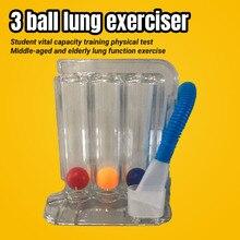 Устройство для тренировки дыхания с тремя шариками, прибор для определения жизненной емкости тела для студентов, для взрослых и пожилых люд...