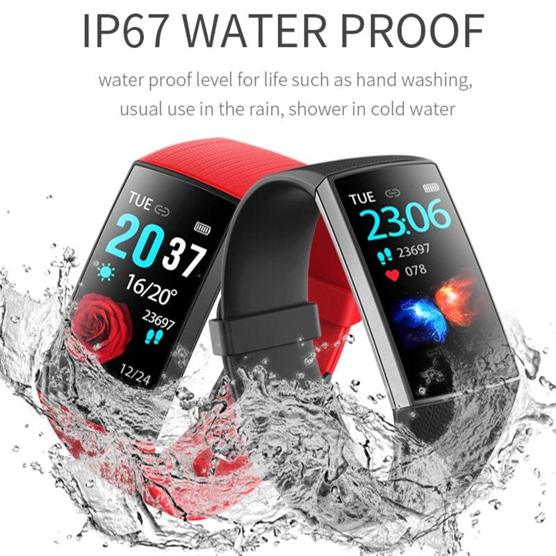 Smart Bracelet Fitness Fashion 2019 Tracker Waterproof Sport Wristband Heart Rate Monitor Blood Pressure Oxygen Sleep Monitoring