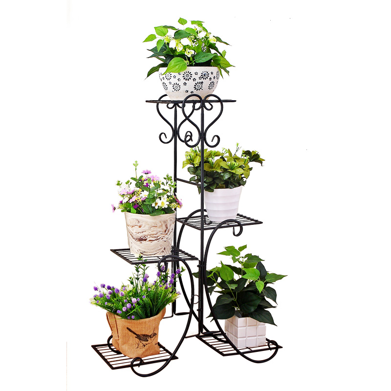 4 Tier Plant Stand Display Shelf Home Garden Ornament Indoor Outdoor Bronze