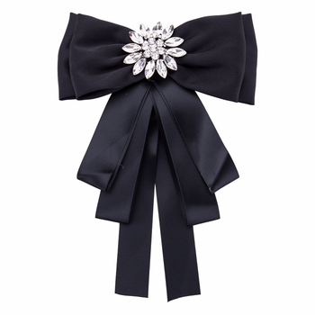 Fashion Multilayer Exaggerated Bow Tie Brooch Ribbon Bowties Women's Suit Shirt Collar Decoration Clothing Accessories 2019 fashion classic striped rhinestone bow tie for women cloth art pearl luxury fabric bowties dress shirt clothing accessories