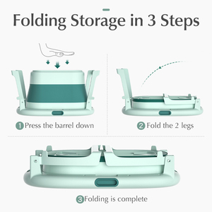 Image 4 - Baby Shining Bath Tub Bed 0 15Y Swim Plastic Portable Folding Home Bath Large Thick Widen Heat Preservation Children Bath Bucket