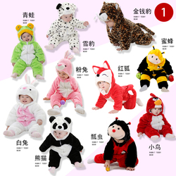 Childrens clothes newborn animal jumpsuit baby romper girl boy costume child cute frog rabbit panda carnival cosplay costume