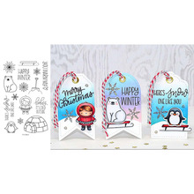 Happy Winter Snowflake Bear Girl Decoration Best wish words Transparent Clear Stamps for DIY Scrapbooking Cards Crafts 2019 New