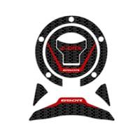 sticker motorcycle Motorcycle 3D carbon fiber Sticker Decal Emblem Protection Tank Pad Cas Cap for CBR650R CBR 650R 2019 (3)