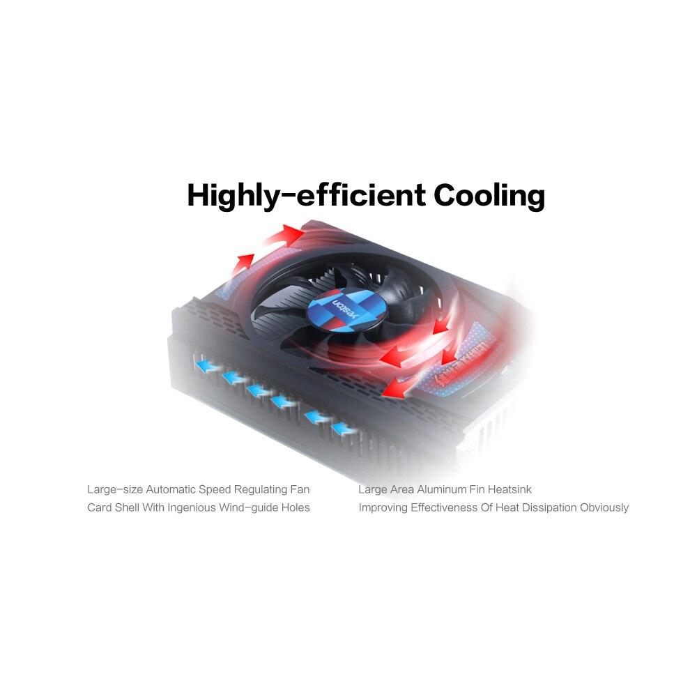 Yeston RX550-2G D5 TA Graphics Cards Radeon Chill 2GB Memory GDDR5 128Bit 6000MHz DP+HDMI+DVI-D Small Size GPU 3