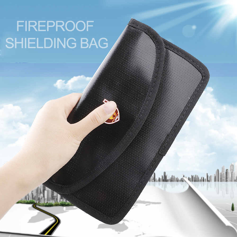 Portable Fireproof & Waterproof Document Envelope File Folder Cash Pouch Fireproof Money Bag Lipo Safe Bag For Home Office