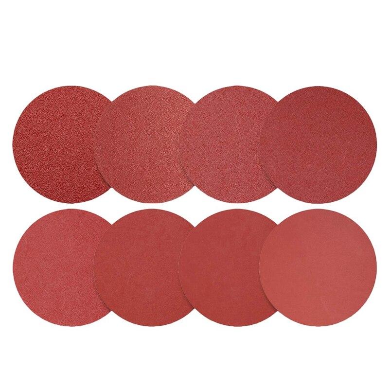 100Pcs 6-Inch Sanding Discs, Self Adhesive Back, Assorted Sandpaper 80 Grits