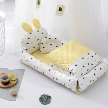 New style crib middle bed portable children's removable and washable folding baby bed baby nest room decoration