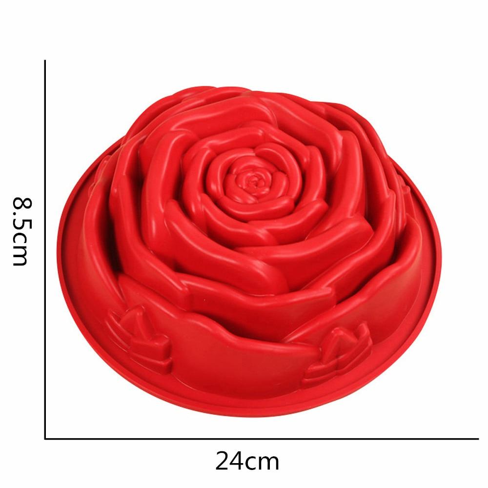 3D Fondant Silicone Rose Flower Cake Tin 3
