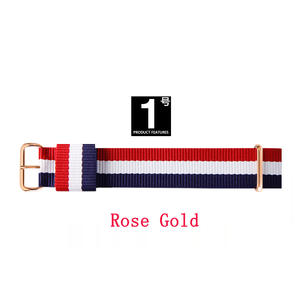 Top brand JH Quality 18mm 20mm rose gold silver lovers men women dw nylon watch strap for daniel wellington watchband for Gift