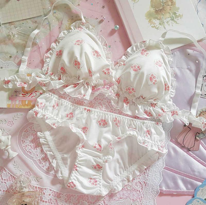 Baumwolle harajuku Nette sexy Hatsune Miku Bikini rosa blau unterwäsche Cosplay Japanischen Anime Stil Streifen Dessous Bh Set
