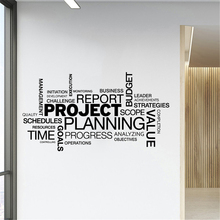 Project Planning Quotes Wall Sticker Vinyl Interior Decoration Office Business Decals Removable Murals Wallpaper travel agency office wall sticker vinyl interior home decor decals say hello to summer voyage murals removable wallpaper 3605