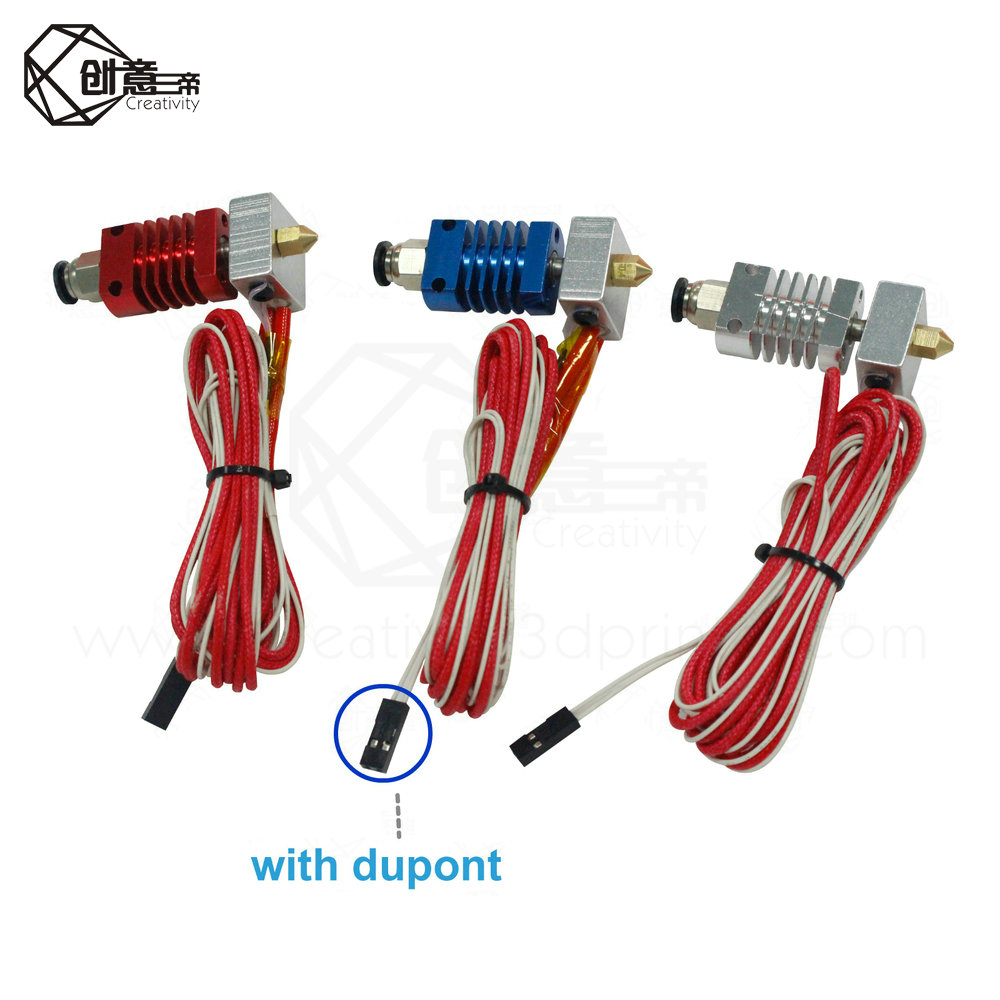 3D J-head Hotend V6 Extruder Kit CR8//CR10 For 1.75mm Bowden Extruder 0.4 Nozzle