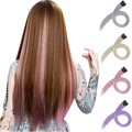 GIRLSHOW Long Straight Hair Extensions with Clip Women 24