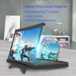 Image 5 - 12インチhdビデオ映画アンプ3D携帯電話画面拡大鏡プロジェクター折りたたみデスクホルダーiphone xiaomiすべてスマートフォン