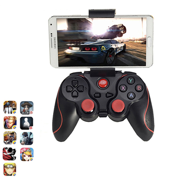 T3 X3 Wireless Bluetooth Gamepad Wireless Joystick Game Controller For IOS Android Mobile Phone Game Handle For PC TV Box Holder flydigi wee gamepad wireless bluetooth stretchable gamepad game joystick handle controller for android ios