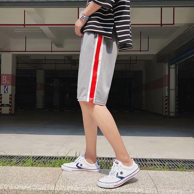 Summer Hong Kong Style Workwear Casual Pants Loose Elastic Waist Shorts Fashion Man Harajuku Hip Hop Shorts Summer Beach Shorts