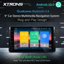 XTRONS 9'' Android 10.0 Qualcomm Bluetooth 5.0 Car Stereo Player for BMW E46 M3 Sedan Coupe Touring Rover 75 MG ZT GPS Radio